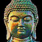 Buntes Buddha-Gesicht von Celso Studio