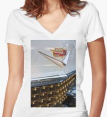 '58 Cadillac Women's Fitted V-Neck T-Shirt
