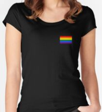 Gay Pride Flag - Minimalist T-Shirt Women's Fitted Scoop T-Shirt
