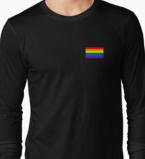 Gay Pride Flag - Minimalist T-Shirt Long Sleeve T-Shirt