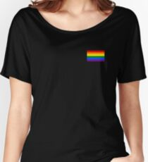 Gay Pride Flagge - minimalistisches T-Shirt Loose Fit T-Shirt