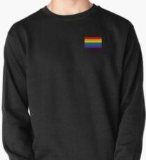 Gay Pride Flagge - minimalistisches T-Shirt Pullover