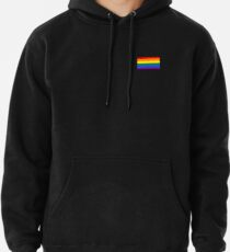 Gay Pride Flagge - minimalistisches T-Shirt Hoodie