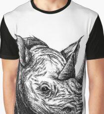 Rhino Sketch Graphic T-Shirt