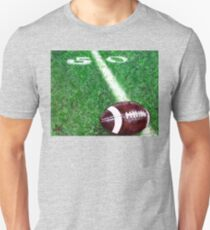 Halfway There Football Green Game Sports Super Bowl Yard Touchdown Line Sportsman Ball Grass T-Shirt