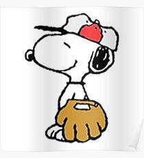 The Peanuts - Snoopy Baseball Poster