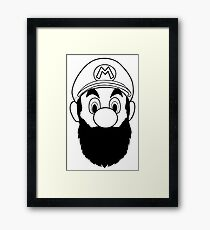 Mario Bros Beard Framed Print