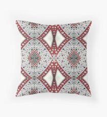 Geometric, Tribal, Endless Diamond Pattern Shapes Throw Pillow