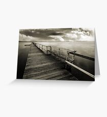 Long Jetty Landscape Greeting Card