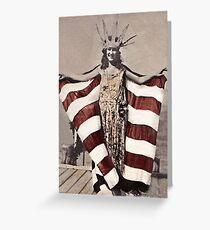 Statue of Liberty Girl c1921 Greeting Card