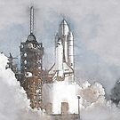 Space Shuttle Launch by mrthink