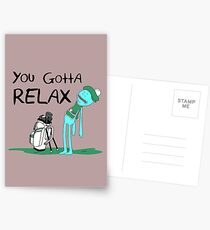 Mr. Meeseeks Quote T-shirt - You Gotta Relax - White Postcards