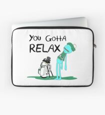 Mr. Meeseeks Quote T-shirt - You Gotta Relax - White Laptop Sleeve