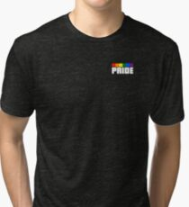 Energetic PRIDE in LGBT Rainbow colors Tri-blend T-Shirt
