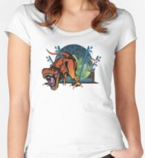 """""""We have a T-rex..."""" Women's Fitted Scoop T-Shirt"""