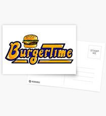 BurgerTime Arcade Logo Postcards