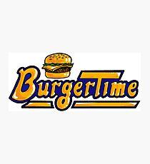 BurgerTime Arcade Logo Photographic Print