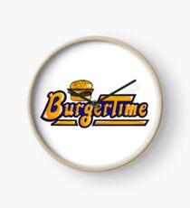 BurgerTime Arcade Logo Clock