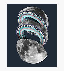 Geode Moon Photographic Print