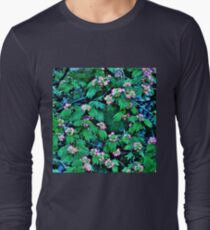 Pink Mimosa Flowers over the Water - Floral Pattern T-Shirt