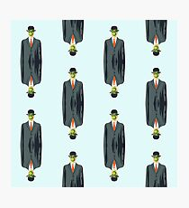 """after Rene Magritte pattern """"son of man"""" Photographic Print"""