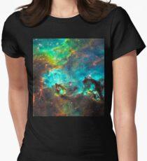 Green Nebula Womens Fitted T-Shirt