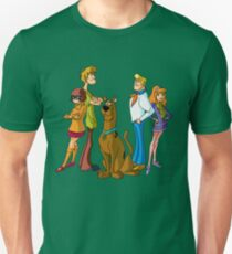 Scooby Doo, Shaggy,Velma, Fred and Dalphne Unisex T-Shirt