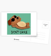 Don't Care Postcards