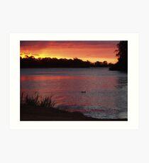 Renmark sunset Art Print