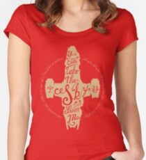 Free Skies (gold) Women's Fitted Scoop T-Shirt