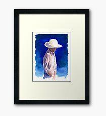 Woman in Sun Hat Framed Print