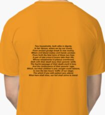 romeo and juliet prologue Classic T-Shirt