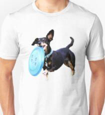 Camiseta ajustada Ultimate Frisbee Dog