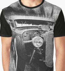 hot rod, vintage, black and white Graphic T-Shirt