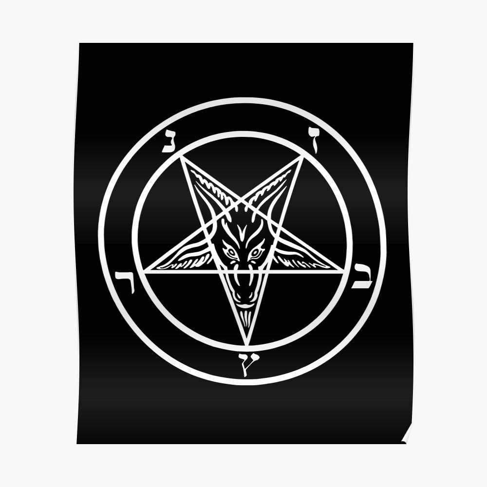 Inverted Pentagram mit Siegel von Baphomet Goat Head Poster