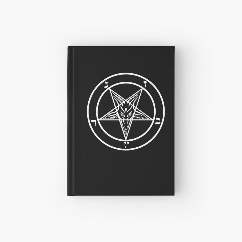 Inverted Pentagram mit Siegel von Baphomet Goat Head Notizbuch