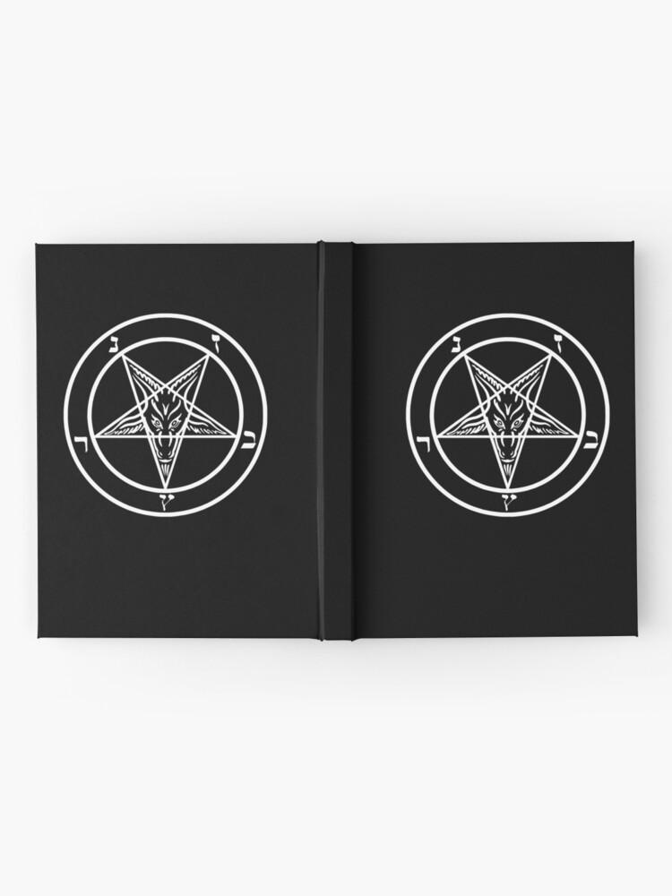 Alternative Ansicht von Inverted Pentagram mit Siegel von Baphomet Goat Head Notizbuch
