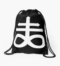 Crux Satanus aka Leviathan Cross Drawstring Bag