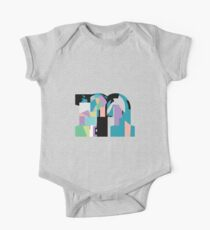 Lowercase pastel abstract check-m One Piece - Short Sleeve