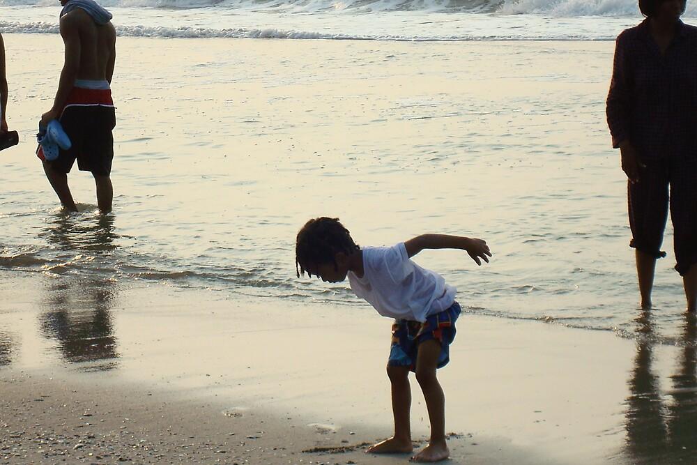 Boy at the Beach by pjperrine