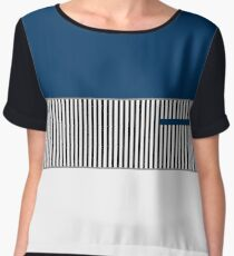 ColorBlocked Stripes Chiffon Top