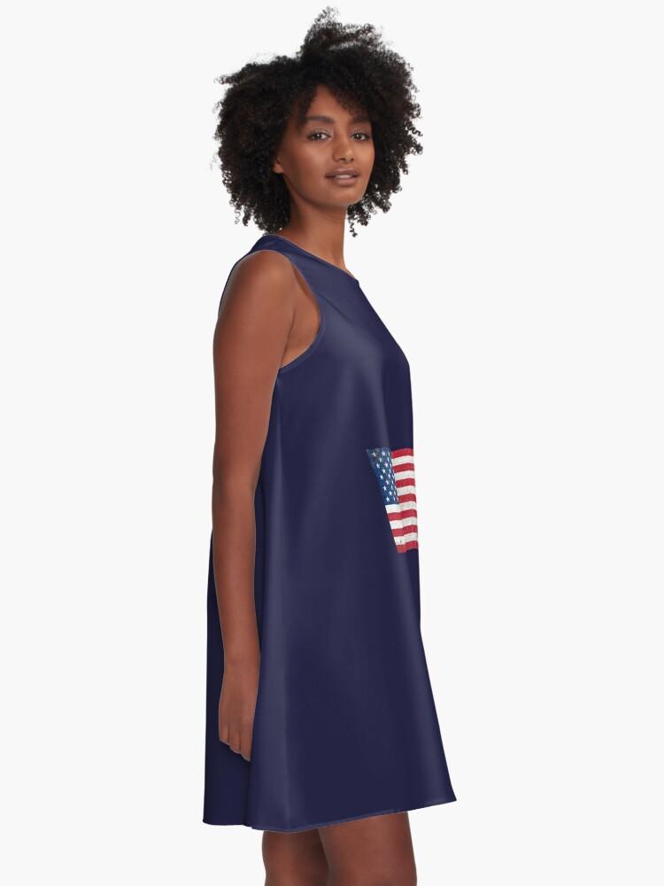Vista alternativa de Vestido acampanado Estados Unidos