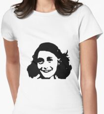 Anne Frank by Tuticki Women's Fitted T-Shirt