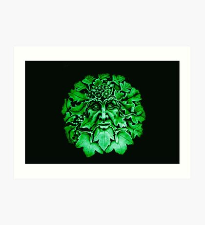 Grüner Mann Kunstdruck