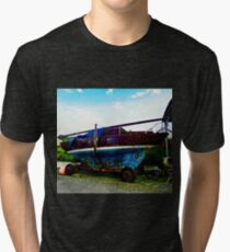 Old Sailing Boat, Corcgreggan's Mill, Donegal, Ireland Tri-blend T-Shirt