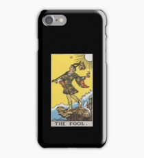 Vintage Tarot Card #0 The Fool iPhone Case/Skin