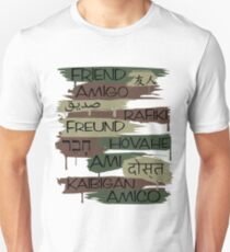 Friends From Other Ends - Camo-Blackout Theme T-Shirt