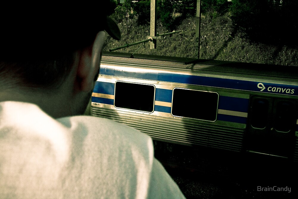 A boy and his train by BrainCandy
