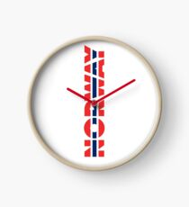 Norway Red White And Blue Of 1821 Clock