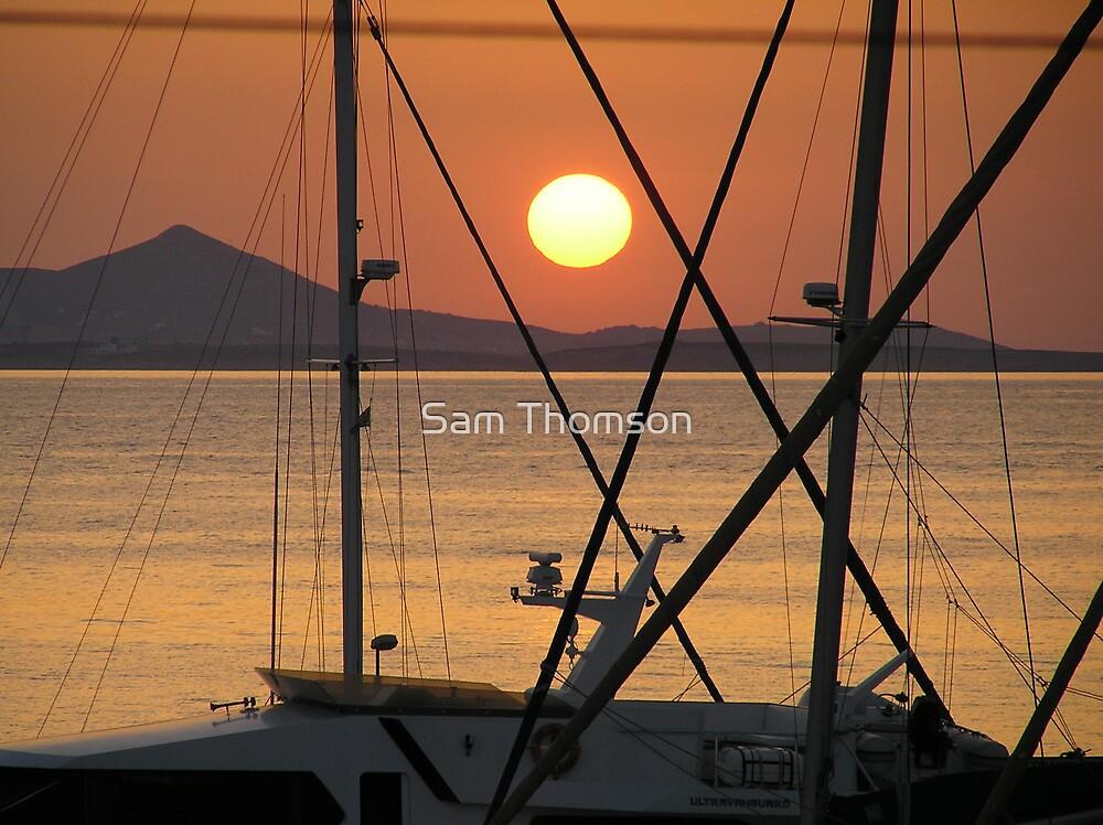Marina Sunset  by Sam Thomson